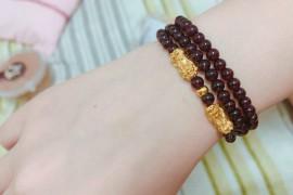 石榴石貔貅手链